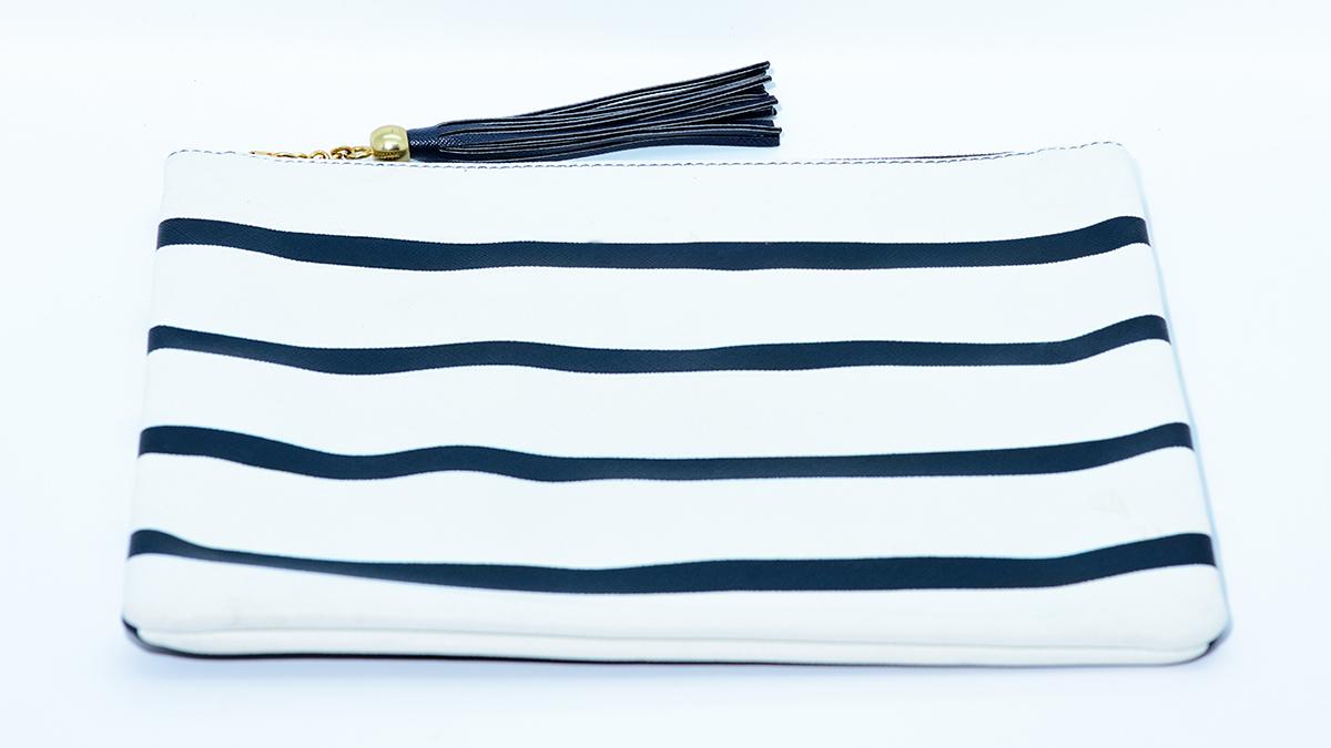 Blue and White Stripe Purse