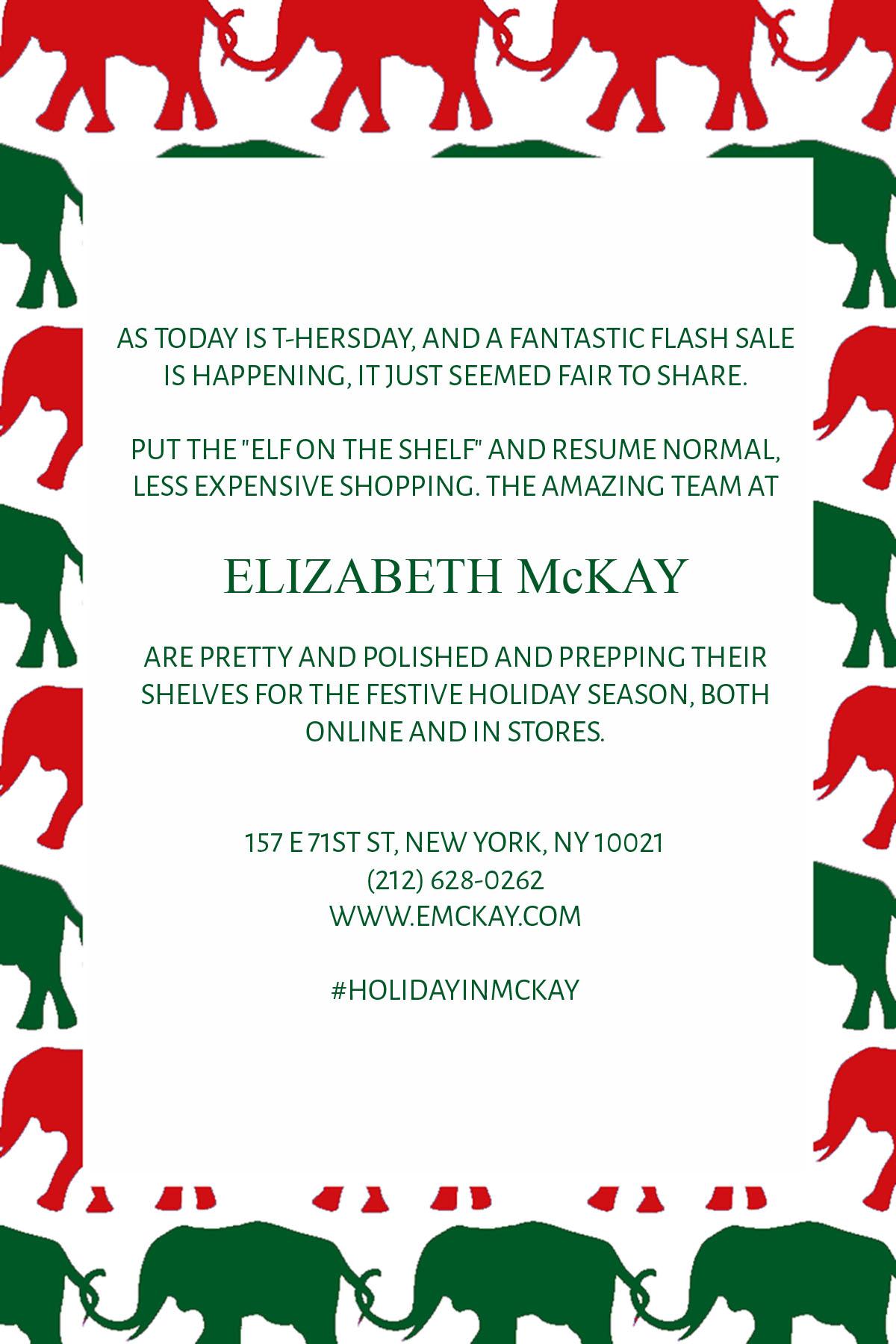 elizabeth mckay sale